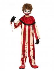 Déguisement clown terrifiant rouge et blanc garçon