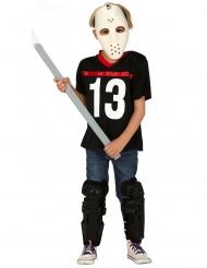 Déguisement assassin avec masque de hockey garçon
