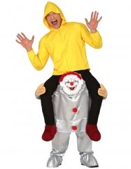 Déguisement à dos de clown psychopathe adulte