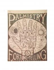 Affiche voyance main de la fortune 100 x 75 cm
