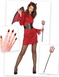 Pack déguisement et accessoires diablesse chic femme