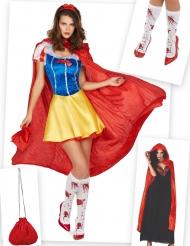 Déguisement et accessoires de princesse de conte sanglante femme