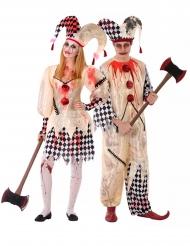 Déguisement couple arlequin sanglant adolescent