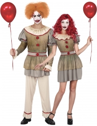 Déguisement de couple clown psycho adulte