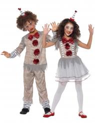 Déguisement de couple clown vintage enfants