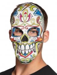 Masque dia de los muertos blanc