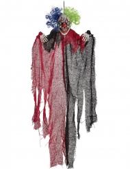 Décoration à suspendre clown effrayant rouge et noir 65 cm