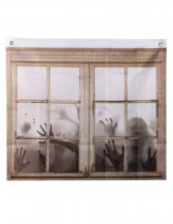 Rideau imprimé zombies 75 x 90 cm