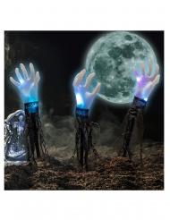 Set 3 mains lumineuses sur piquets 60 cm