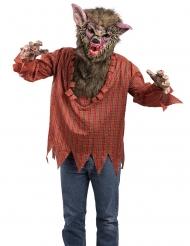 Déguisement tunique et masque loup garou adulte
