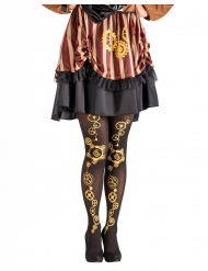 collants noir steampunk femme