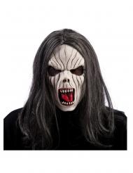 Masque vampire en latex avec cheveux adulte