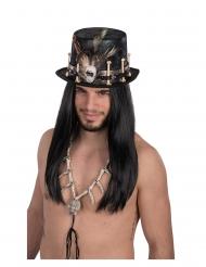 Chapeau haut de forme en velours vaudou