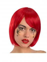 Tatouage visage petites araignées noires adulte