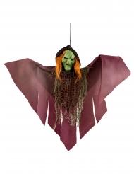 Décoration à suspendre sorcière effrayante 36 cm