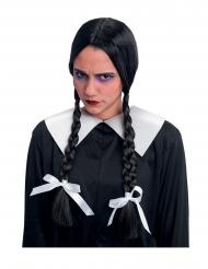 Perruque tresses noires enfant maudite adulte