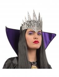 Demi couronne reine argenté brillante adulte