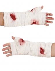 Bandage sanglant pour le bras