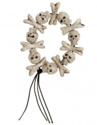 Bracelet avec crâne et os
