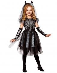 Déguisement mariée démon squelette enfant