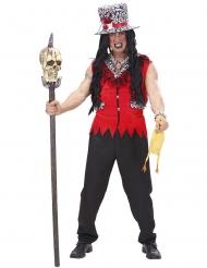 Déguisement prêtre vaudou rouge homme