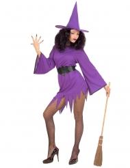 Déguisement sorcière violette sexy femme