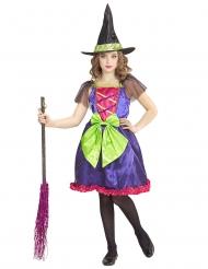 Déguisement sorcière multicolore enfant