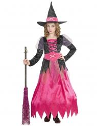 Déguisement jolie sorcière rose enfant
