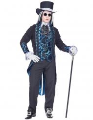 Déguisement vampire victorien bleu homme
