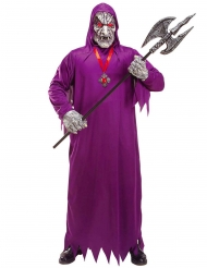 Déguisement zombie de la mort violet adulte