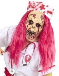 Masque intégral infirmière zombie