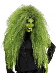 Perruque sorcière verte femme