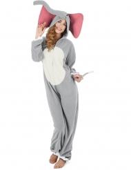 Déguisement éléphant gris femme
