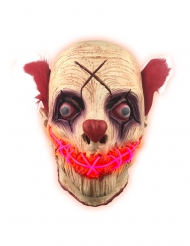Masque latex lumineux clown adulte