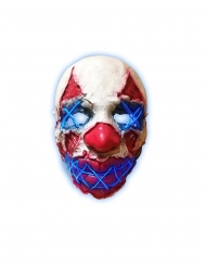 Masque latex lumineux clown de la nuit adulte