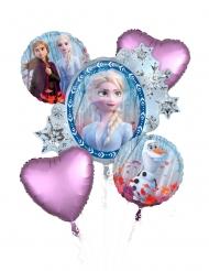Bouquet 5 ballons aluminium La Reine des Neiges 2™