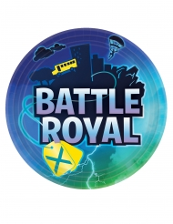 8 Assiettes en carton battle royale 23 cm