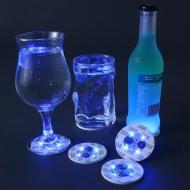 4 sous verres LED colorés