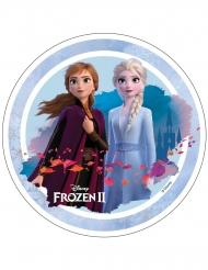 Disque en azyme La Reine des Neiges 2™ Anna et Elsa 21 cm