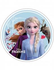 Disque en azyme La Reine des Neiges 2™ Anna, Elsa, Olaf et Sven 21 cm
