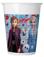 8 Gobelets en plastique La Reine des Neiges 2™ 200 ml