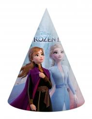 6 Chapeaux de fête en carton La Reine des Neiges 2™