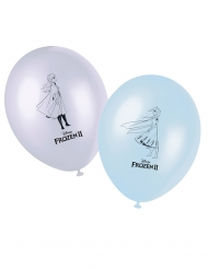 8 Ballons en latex La Reine des Neiges 2™ 28 cm
