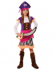 Déguisement pirate aventure violet fille