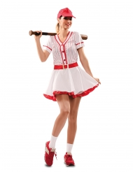Déguisement joueuse de baseball femme