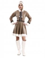 Déguisement robe esquimau femme
