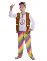 Déguisement hippie arc-en-ciel garçon