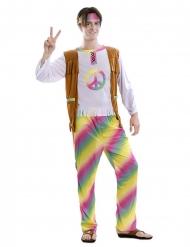 Déguisement hippie arc-en-ciel homme