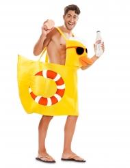 Déguisement canard de bain adulte