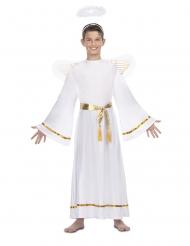 Déguisement ange blanc ceinture doré enfant